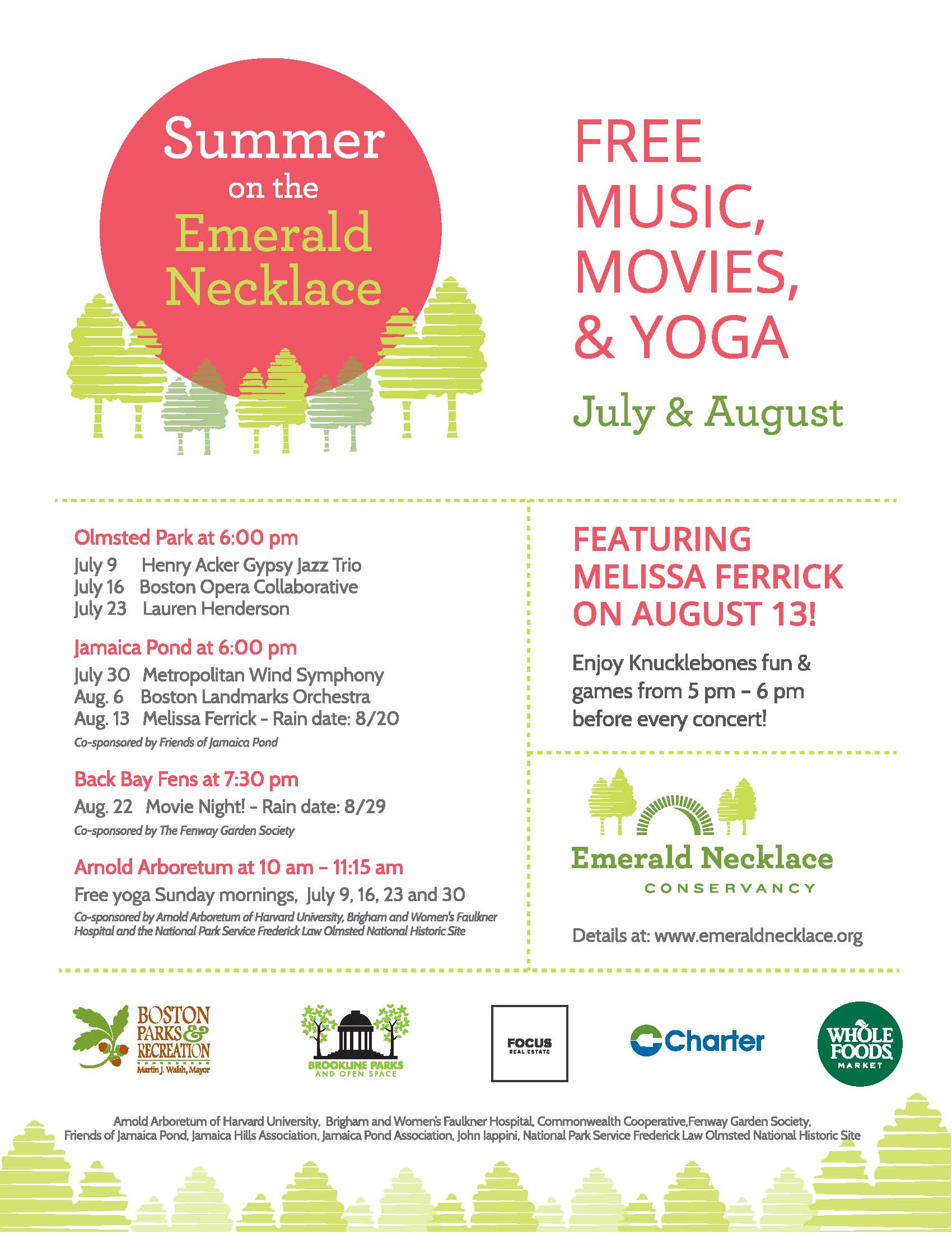 Summer on the Emerald Necklace Poster (1)