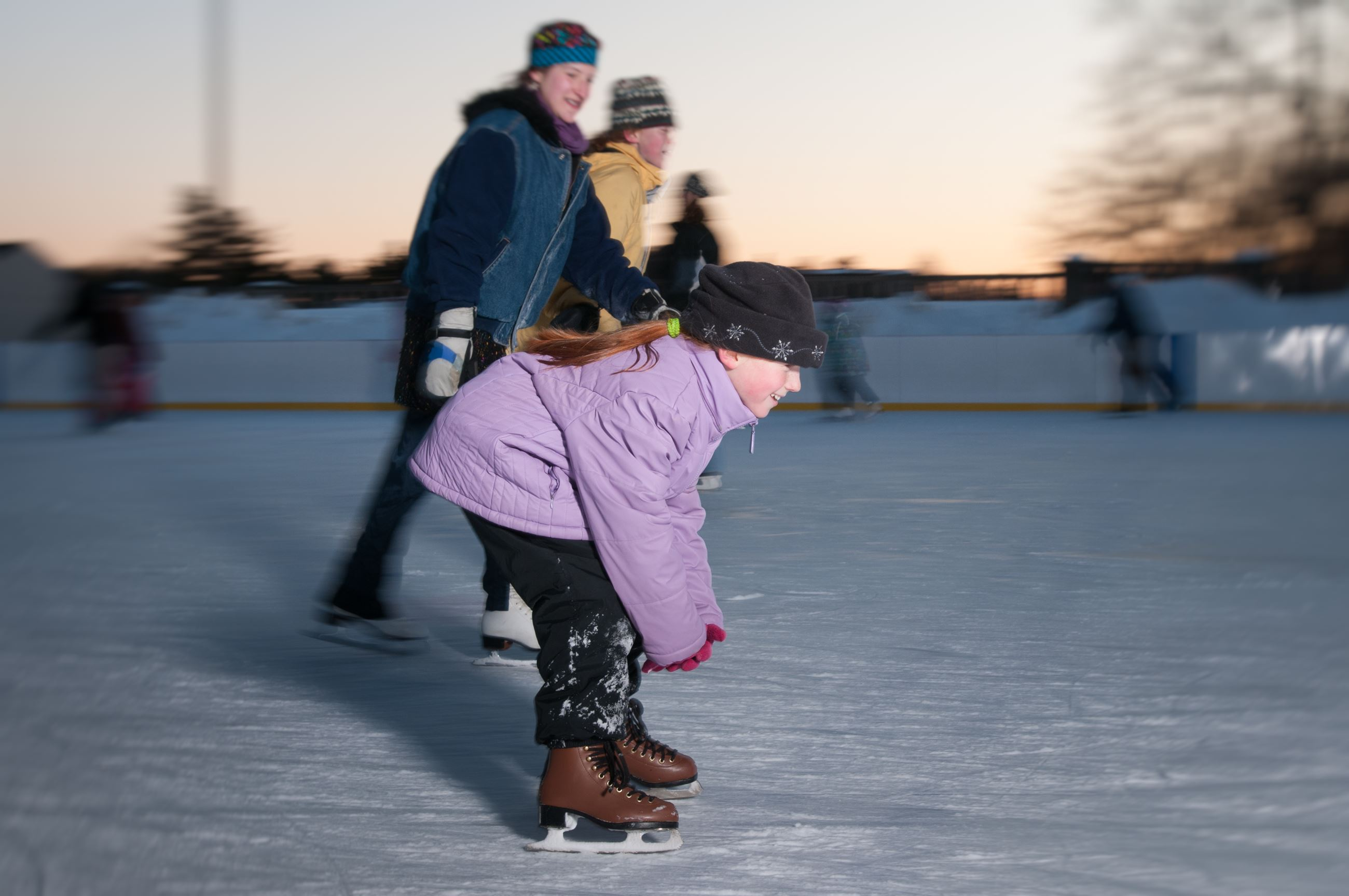 Young girl skating at Jack Kirrane Ice Rink