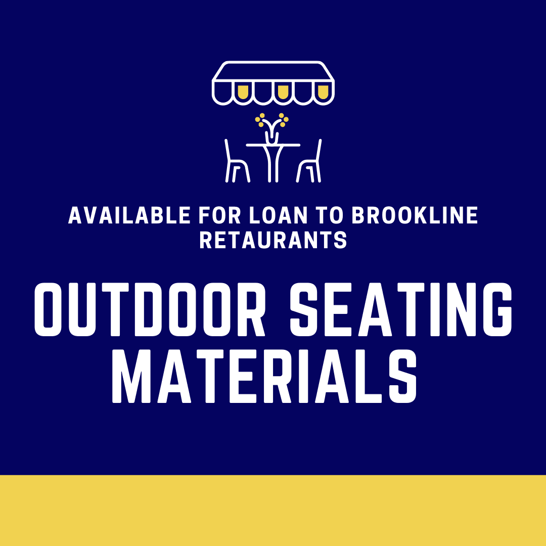 Outdoor Seating Materials Available for Loan (Oct 2020)
