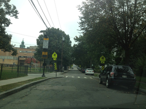 Radar Speed Display and Curb Extension on Stedman Street