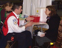 EMT Speaking With Patient
