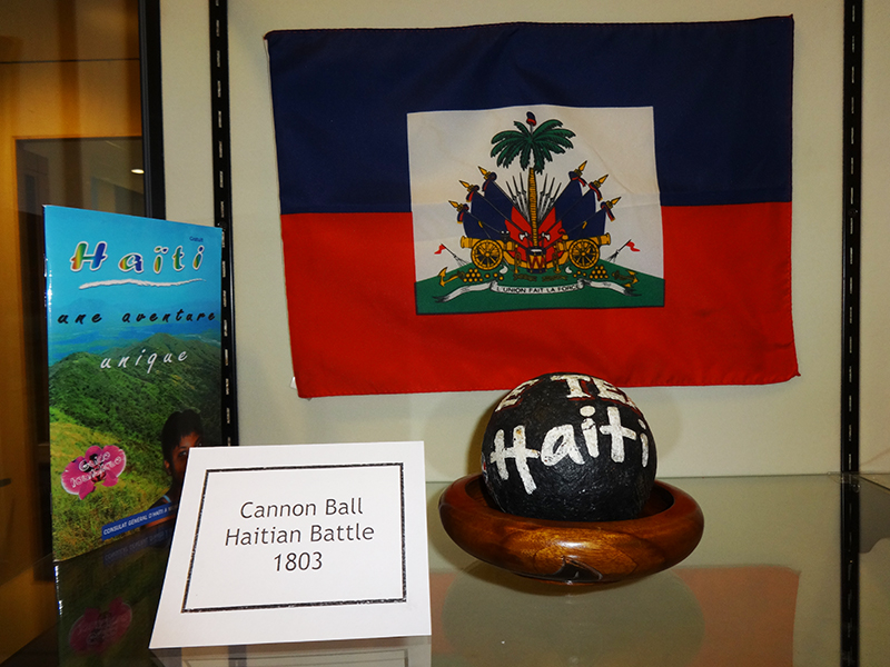 Haitian Flag & Revolution Cannonball